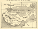 The Rann of Catch and the Allah Bund. Gujarat. Kutch. Sketch map 1886 old